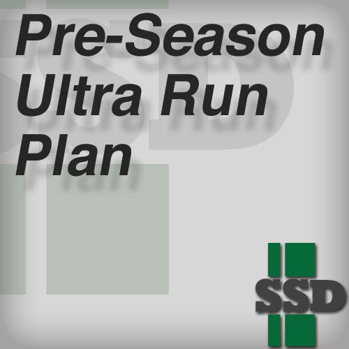 Pre-Season Ultra Run Plan