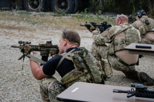 Illinois State SRT members test the effects of energy drinks on tactical marksmanship.