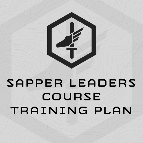 Army Training Strategy: Sapper Leaders Course Training Plan