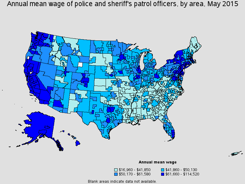 Local Law Enforcement Salaries Low In The South High In