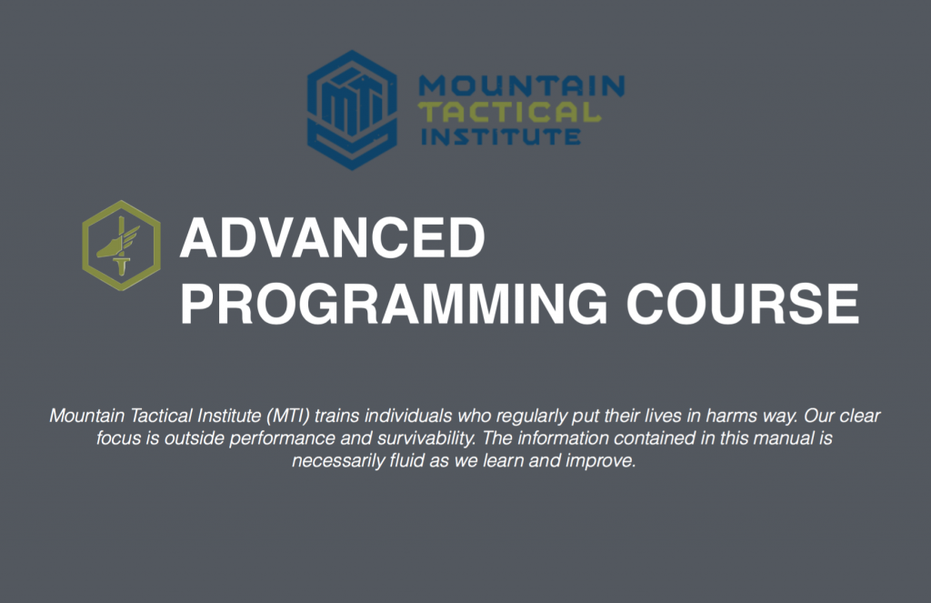 Tactical Athlete Advanced Programming Course - April 15 - 17